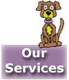 Services of mobile dog grooming and cat grooming