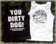 You Dirty Dog Mobile pet Grooming service t-shirts and tank tops for sale